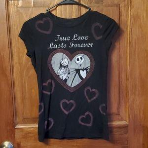 💜 Jack n Sally True Love Lasts Forever Tshirt